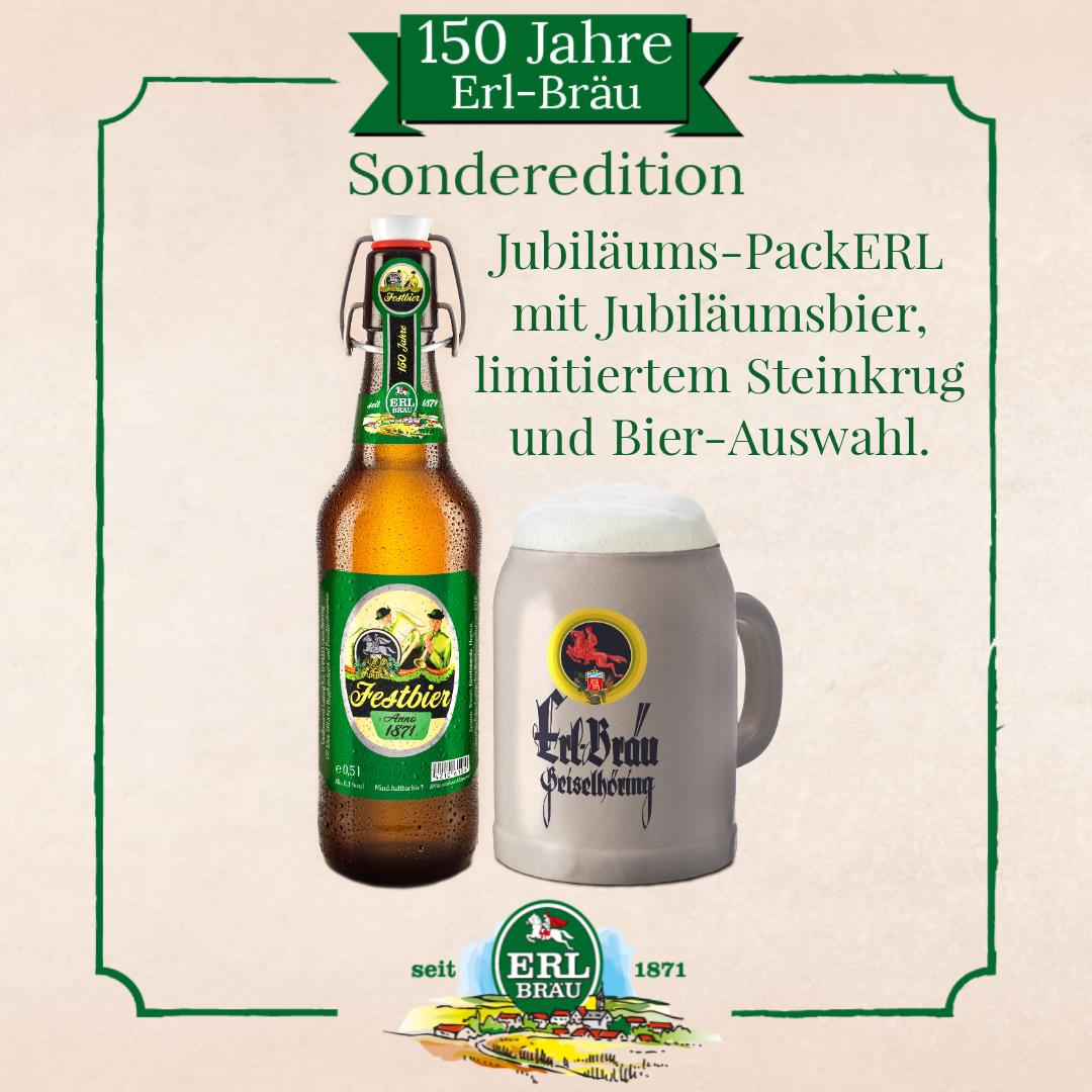 Erl-Bräu Sonderedition Jubiläums-PackERL mit Steinkrug!