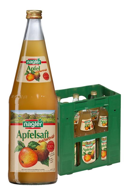 Nagler Apfelsaft naturtrüb 6x1,0l