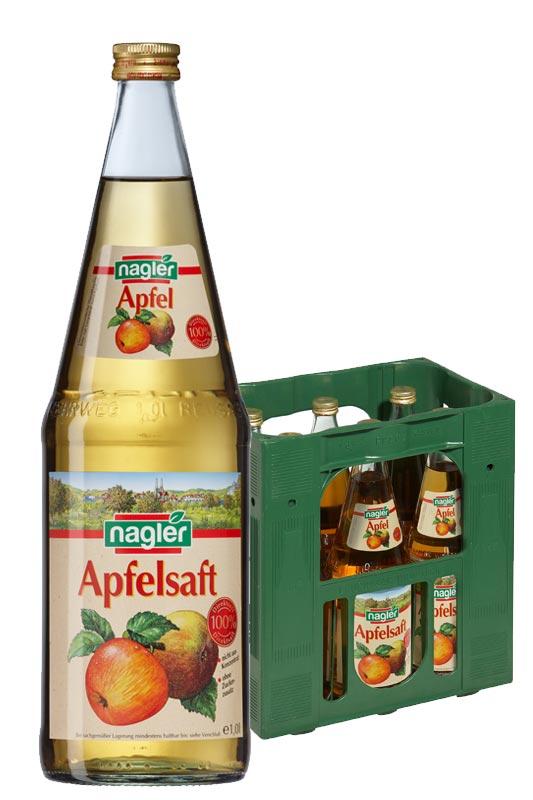 Nagler Apfelsaft klar 6x1,0l